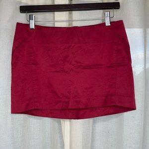 bebe Red Mini Skirt